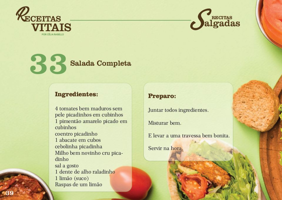 Receitas Vitais; Salada Completa